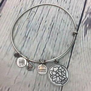 Alex & Ani Mom Energy Bracelet silver tone